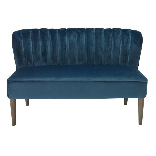 AXE151 -Plush Velvet  Blue Sofa By Denelli